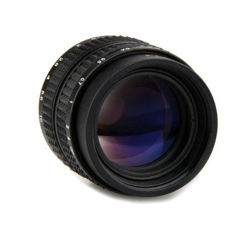 50mm f1,4 CCTV Obiettivo C-m4/3 Anello Adattatore Macro Nero per