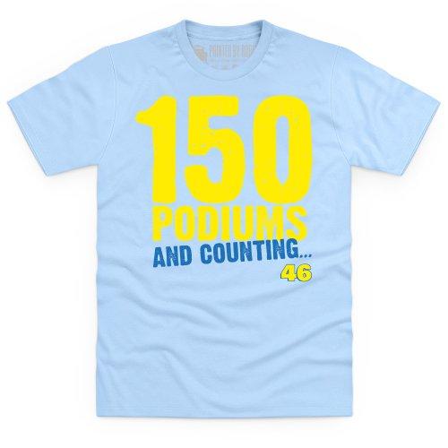 150 Podiums T-Shirt, Herren Himmelblau