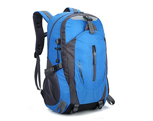 sjdxd Sportrucksack im Freien Bergsteigenbeutel Männer und Frauen große Kapazität wasserdichter Reiserucksack@Blau A -