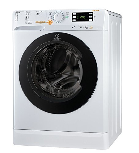 Indesit XWDE 1071481XWKKK EU Waschmaschine mit Wäschetrockner(Frontlader, freistehend, weiß, Türanschlag links, Drehknöpfe, 71 l)