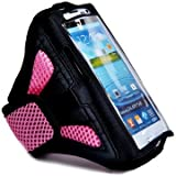 King of Flash Sports Armbands Running Bike Cycling Gym Jogging Ridding Arm Band Case Cover for Samsung Galaxy S3 SIII S4 Ace2 iPhone 3G 3GS 4 4S 5, HTC One Blackberry And For Various Mobile Phones - Tie Phone With Your Arm (Pink)
