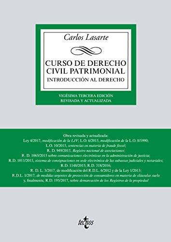 Curso de Derecho Civil patrimonial: Introducción al Derecho (Derecho - Biblioteca Universitaria De Editorial Tecnos) por Carlos Lasarte