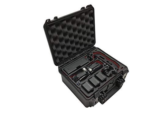 """Profi Transportkoffer, Koffer """"Kompakt"""" für DJI Mavic Air. Platz für bis zu 5 Akkus und viel Zubehör, Wasserdichter Outdoor Case IP67, Hardcase, Made in Germany (Schwarz)"""