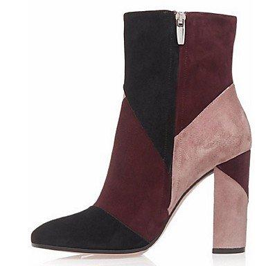 Wuyulunbi@ Scarpe Donna Grandi Spessi Stivali Stivali Da Ufficio E Professione / Abito / Casual Rosso,Rosso,Us6 / Eu36 / Uk4 / Cn36 Noi6.5-7 / EU37 / UK4,5-5 / CN37
