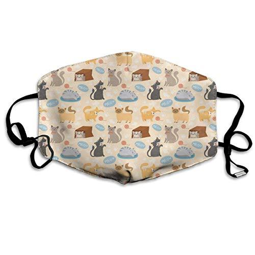 Vidmkeo Unisex Staubmaske Nette Katzen Play Box Mundmaske Gesicht Kleidung Anti Verschmutzung Outdoor Maske Aktivitäten Warme Winddicht Gesichtsmasken New15 (Für Katzen Play-box)