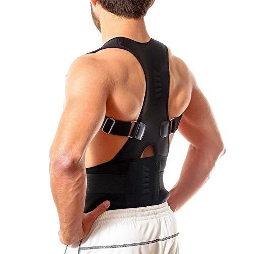 Ducomi Extreme Posture - Haltungskorrektur - Haltungsstütze für Rückenstütze und Korrekturunterstützung mit 12 800 Gauß-Magneten (Schwarz, XL)