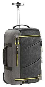 cabin max 55x40x20 handgep ck hartschalenkoffer koffer trolley rucksack grau gelb amazon. Black Bedroom Furniture Sets. Home Design Ideas
