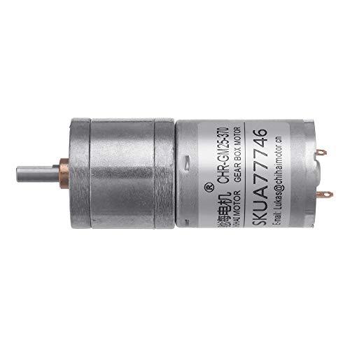 Motor micro del engranaje del imán permanente de Asdomo CHR-GM25-370 DC 24V...