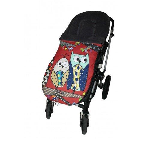 Tris & Ton Fußsack-Kindersitz universal für Bebe Modell Eule, Fußsack Kinderwagen mit wasserdichter Fleece Winter Fußsack (trisyton) (Tri-klappe)