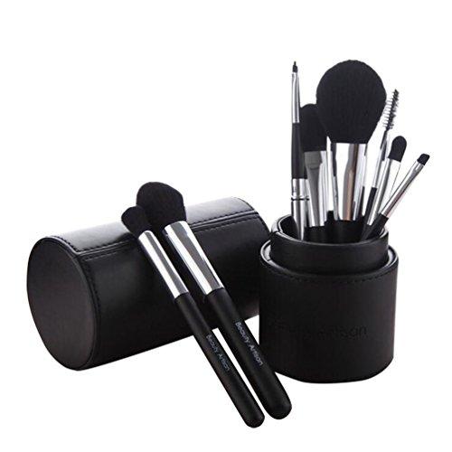 NiSeng Kit de Pinceau Professionnel Brosses de Maquillage 8 Pièce avec Boîte Noir