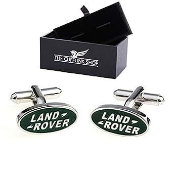 Land Rover logo voiture mens boutons de manchette - coffret cadeau de luxe inclus