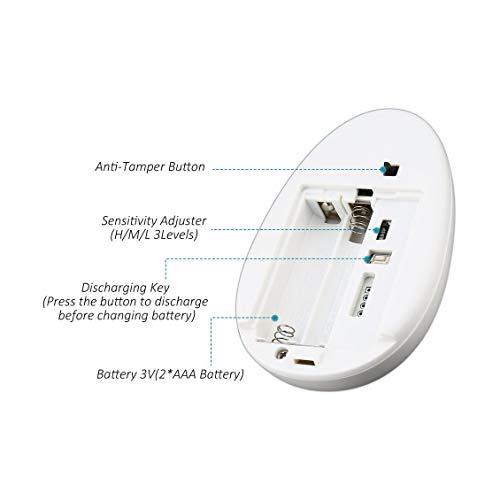 fghdfdhfdgjhh Fit SECRUI GB2 Rilevatore rottura vetri senza fili Vetro vetri Vibrazione/rottura Rilevatore di sensori di sicurezza Antifurto domestico
