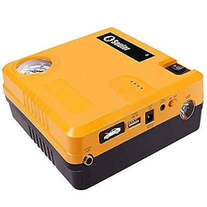Arrancador de Coches Powerbank Jump Starter 400A 12000mAh 12V (hasta 6, 0L Gasolina o 4, 0L Diesel), IP68 Impermeable con Bomba de Aire Carga Rápida QC3.0 USB Linterna LED