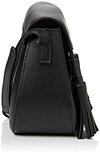 French ConnectionMulti Tassel Brea Saddle Bag - Borsa a tracolla donna Nero (Nero)