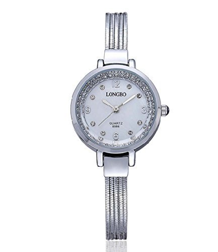 tarshow da donna in acciaio inossidabile Link bracciali orologi con cristalli