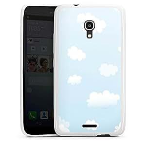 DeinDesign Huawei Ascend Mate 2 Hülle Silikon Case Schutz Cover Wolken Himmel Wolkenmuster
