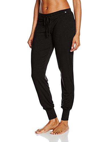 ESPRIT Bodywear Damen Schlafanzughose 996EF1Y900, Schwarz (Black 001), (46)