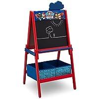 Delta Children Caballete Infantil, Madera, Rojo/Azul, 55.88x55.88x115.70 cm