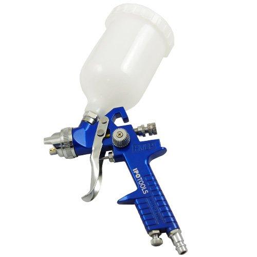 Preisvergleich Produktbild Ipotools H-827P HVLP Lackierpistole Spritzpistole,  Profi Farbsprühsystem mit 600 ml Plastikbecher und Edelstahldüse 1, 3 mm