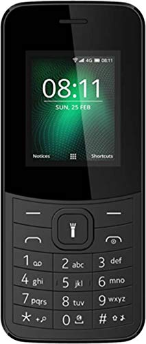 IKALL K38 Dual SIM Basic Mobile Phone with 800mAh Battery and 1.8-inch Screen-Black