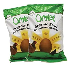 Organic Omlet Chicken Feed 10kg Twin Pack from Omlet