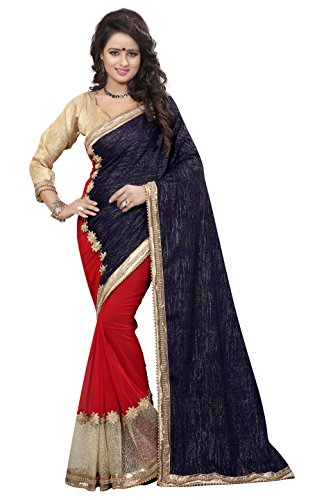 Chigy Whigy Blue Velvet party wear Sarees