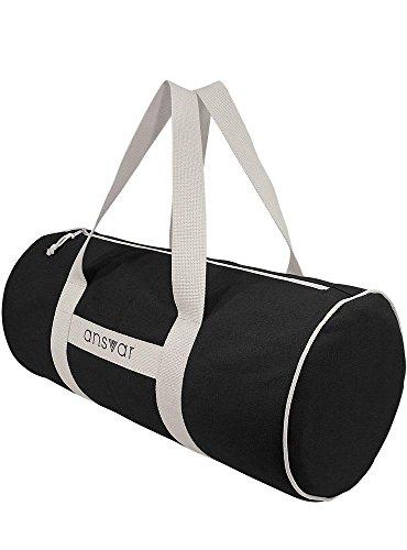 Sporttasche ansvar III aus Bio Baumwoll Canvas - Hochwertige Damen & Herren Sporttasche, Duffle Bag aus 100% nachhaltigen Materialien - mit GOTS & Fairtrade Zertifizierung, Farbe:anthrazit - 6