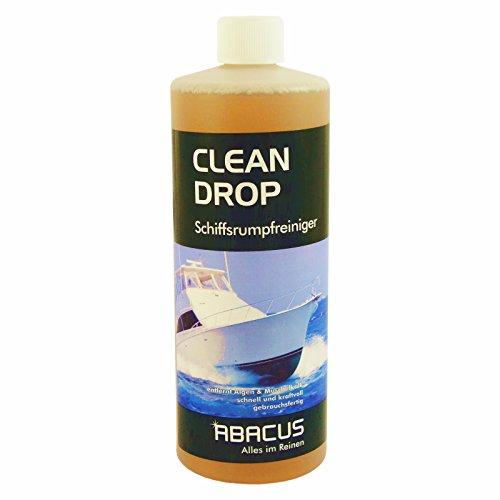 CLEAN DROP 1000 ml (2428) --- Schiffsrumpfreiniger GFK-Reiniger Gelcoat-Reiniger Wasserpass-Reiniger Bootsreiniger Rumpfreinger Muschelkalk Rost Oxidschichten und Vergilbungs-Entferner -- ABACUS