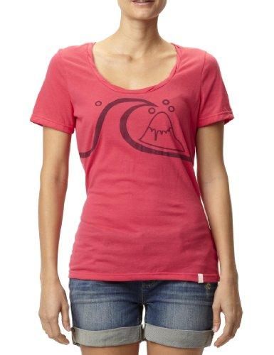 Quiksilver Mountain T-Shirt pour femme Rouge - Berry Wave