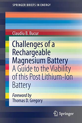 Challenges of a Rechargeable Magnesium Battery: A Guide to the Viability of this Post Lithium-Ion Battery (SpringerBriefs in Energy) (Bb Batterie)