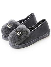 RegbKing Zapatillas Para Mujer Zapatillas De Invierno Para Mujer Zapatillas Antideslizantes Calzado Holgazán Cómodo Para Uso