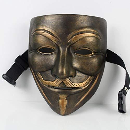 Casablanca Kostüm Les - HandWerk Dekoration Kreative Harzskulptur Persönlichkeit V Gesicht Mit Exquisite Harz Maske Ornamente (Size : B)