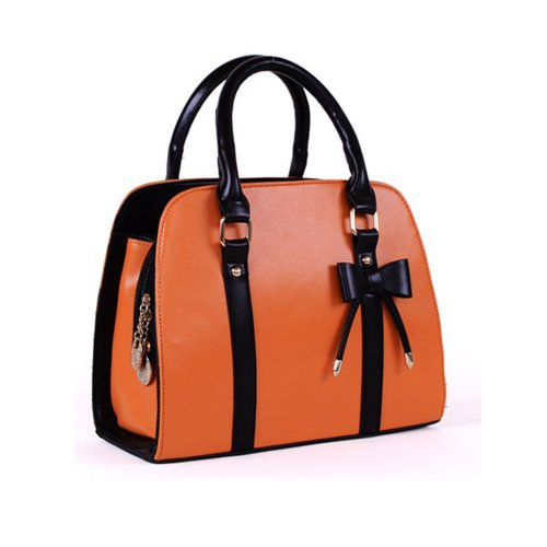 Finejo, Borsa a spalla donna Arancione (arancione)