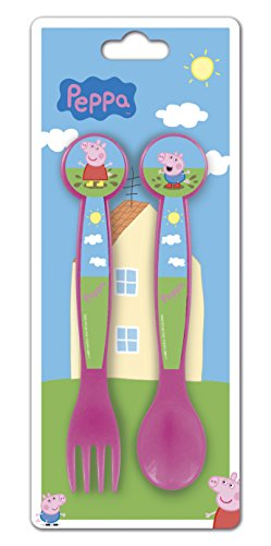 Peppa Pig- Set Cubiertos PP en cartulina (STOR 48617)