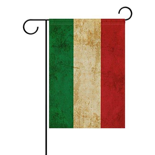 ALAZA Vintage Italienische Polyester Garten Flagge Haus Banner 30,5x 45,7cm, Zwei-seitige Welcome Yard Dekoration Flagge für Hochzeit Party Home Decor 12x18(in) Multi