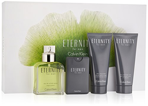 Calvin Klein Eternity Acqua di colonia + dopobarba + Acqua di colonia Mini + Gel per capelli e corpo - 1 Pack
