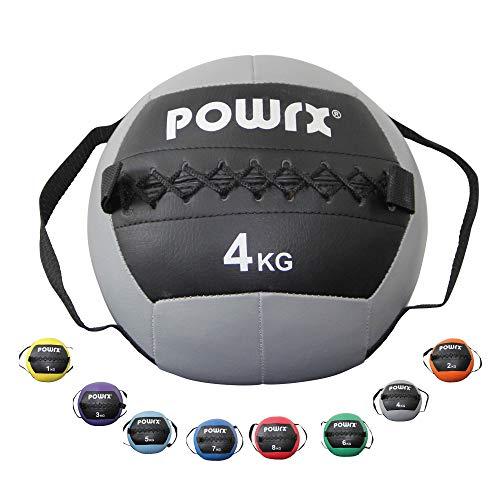 POWRX Wall Ball Asas Laterales 1-8 kg - Ideal Ejercicios