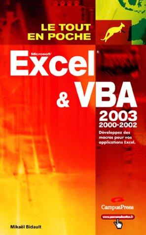 Excel et VBA 2003