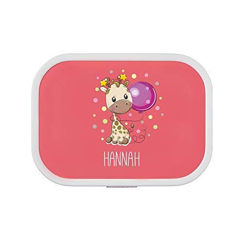 isierte Brotdose Giraffe   Mepal Campus + Bento Box & Gabel - Schule - Kindergarten - Pausenbrot - 6 Farben (Pink) ()