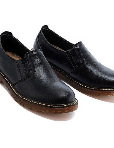Chaussures Femme Shangyi - Ballerines / Mocassins - Loisirs / Décontracté - Confortable - Plat - Cuir - Noir Noir