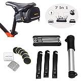 Kit d'outils Vélo, OUTERDO Outil de Réparation Sacoches de Selle 7 en 1 Vélo Trousse à Outils...