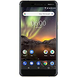 Nokia 6.1 Smartphone Débloqué 4G (Ecran : 5,5 pouces - 32Go ROM - 3Go RAM - Dual-Nano SIM) Bleu [Version Française]