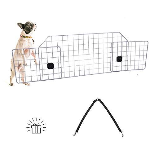 CO-Z Schutzgitter Auto Hundegitter Hunde Barriere für SUV Universal Schutzgitter Verstellbares Kofferraumschutz Gitter Zugseil als Geschenk