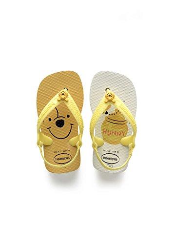 Havaianas Baby Disney Classics II, Infradito Unisex Bimbo, Bianco (White/Pollen Yellow), 22 EU