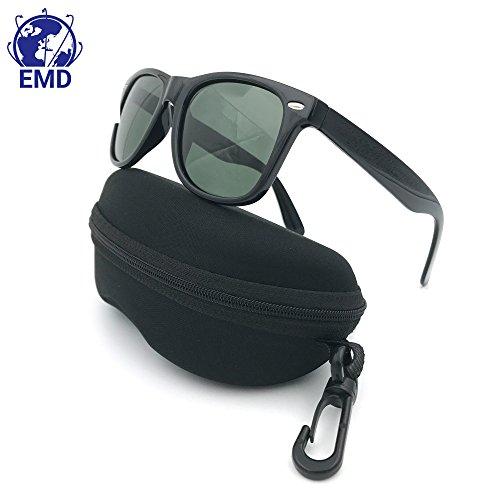 EMD Sonnenbrille polarisiert Vintage-UV 400-Herren Damen-Typ Wayfarer-Biegsames geliefert