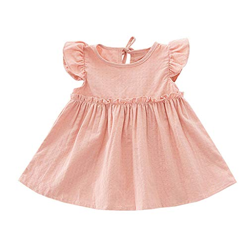 Weant Baby Kleidung Mädchen Kleider Festlich Outfits Röcke Hosen Fliegender Ärmel Einfarbig Partykleid Sommerkleid Prinzessin Kleid Kinder Kleider Baby Bekleidungssets Neugeborenen Bekleidungset -