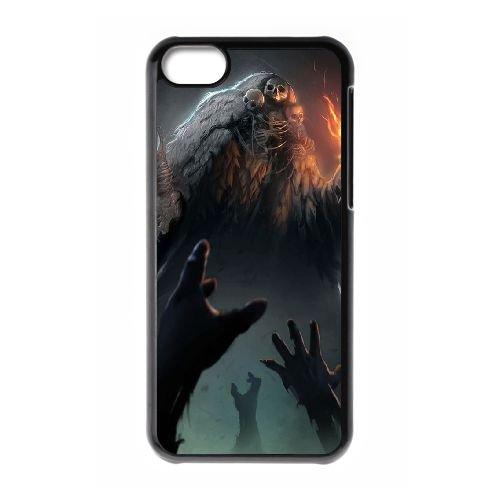 Dark Souls coque iPhone 5C Housse téléphone Noir de couverture de cas coque EBDXJKNBO15629