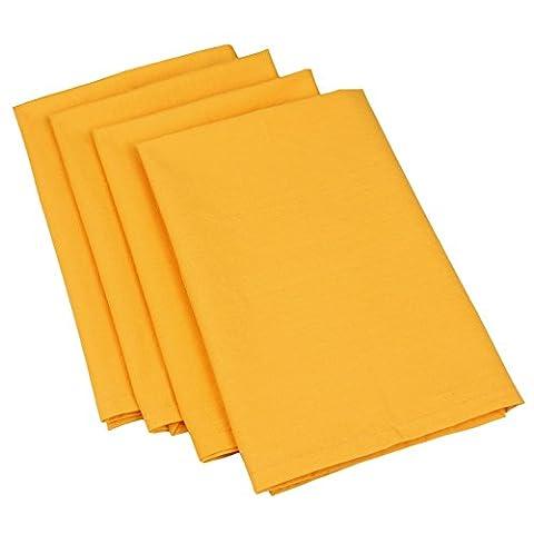 Orange, Gelb, Golden Baumwolle Ente Servietten - 50 X 50