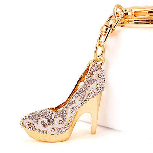 Leder-patent Leder Heels (DCFVGB Kristall High Heel Schuhe Schlüsselanhänger Ringhalter Blume Tasche Anhänger Autoschlüsselanhänger)