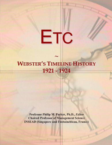 Etc: Webster's Timeline History, 1921-1924